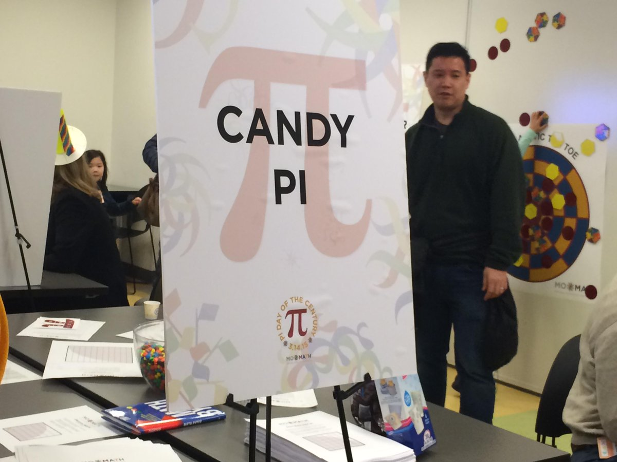 Tim Chartier On Twitter Today Momath1 Used My Candy Pi Calculator From My Princetonupress