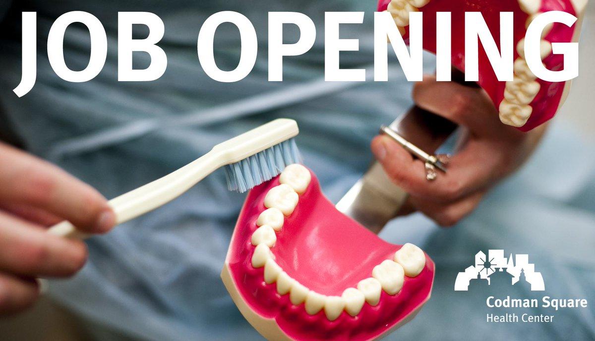 "Codman Square Health Center on Twitter: ""Now Hiring: Dental Director ..."