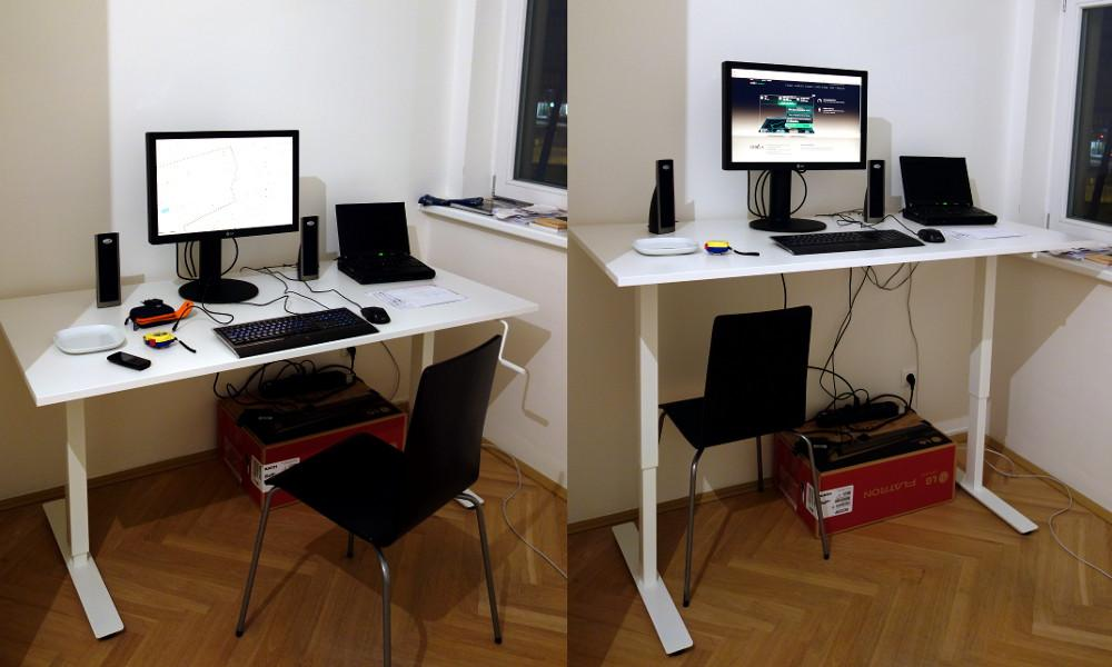 mnicky on Twitter My new standing desk Ikea Skarsta