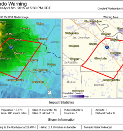 tornado warning including perryville mo silver lake mo lithium mo until 5 30 pm cdt [ 1200 x 820 Pixel ]