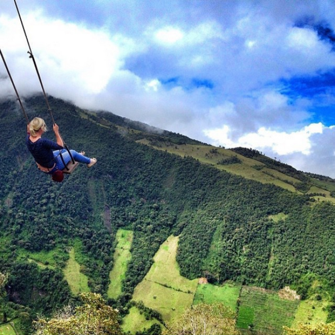 unknown travel destinations you must visit , swing of ecuador
