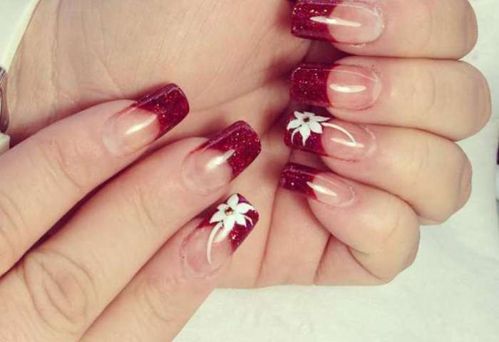 Uñas Decoradasnails On Twitter Diseño De Uñas De Gel Rojas Y