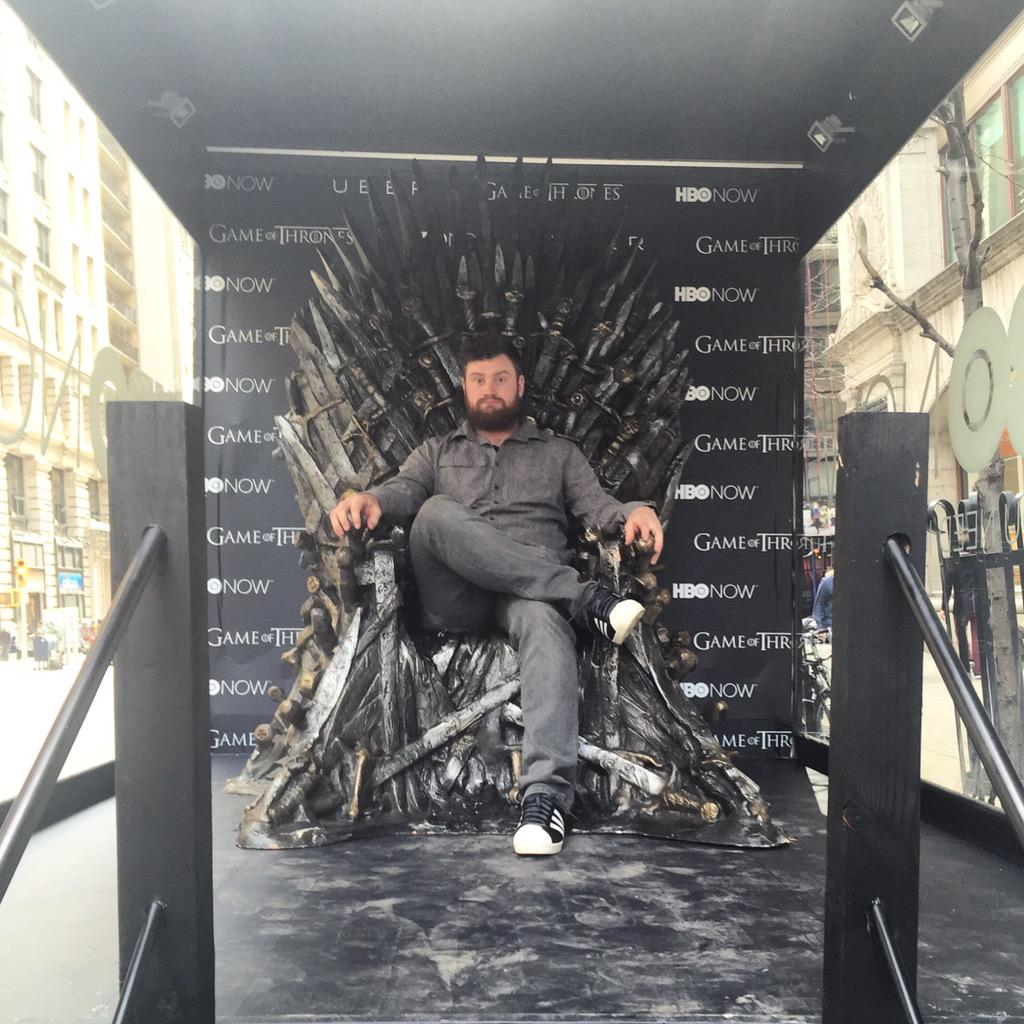 iron throne chair tan office hi from the gameofthrones in a truck on 5th avenue thanks to uber nyc i have power fear me got
