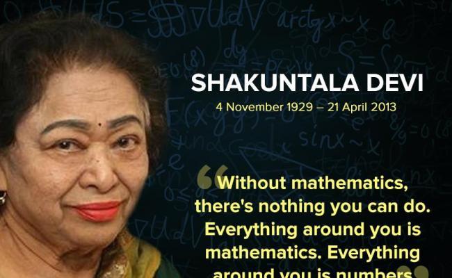 Remembering Human Computer Ms Shakuntala Devi On Her