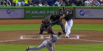 Giancarlo Stanton Hit A Baseball A Thousand Feet And A Fan Caught It Barehanded