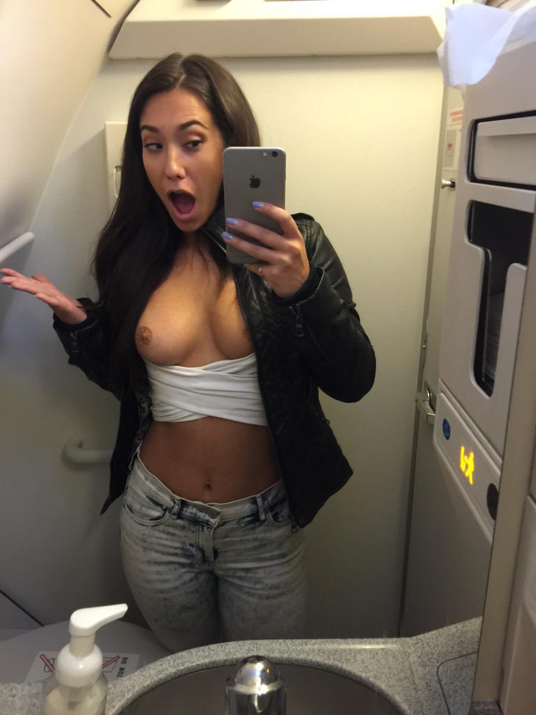 Eva Lovia on Twitter Top less again on a plane  http