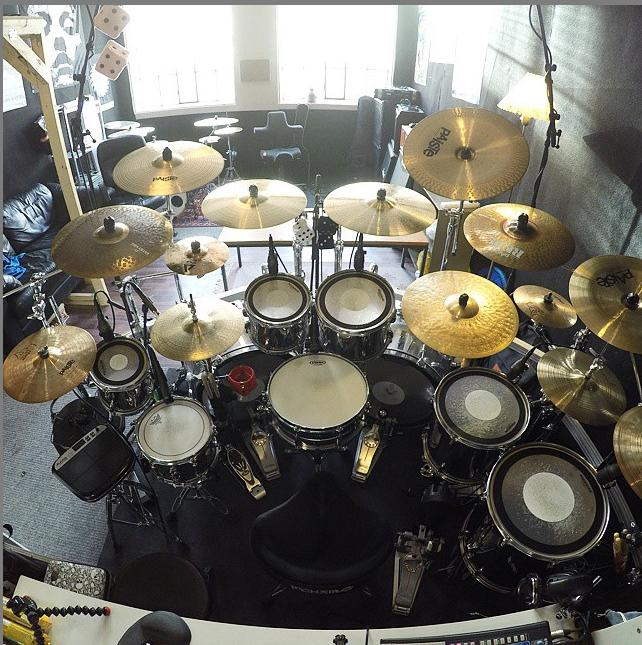 double bass kit with demon drive pedals
