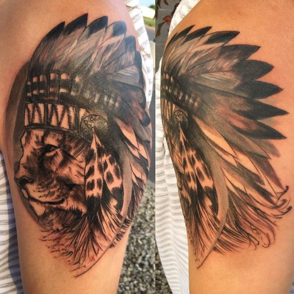 6126fa0ca7b54 20+ Feathered Lion Head Tattoo Pictures and Ideas on Meta Networks
