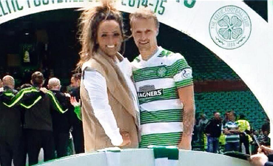Celtic Star Leigh Griffiths Partied On The Parkhead Pitch