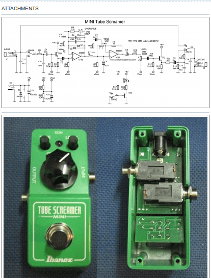Circuits Tube Screamer Schematic Mods Ibanez Tube Screamer Schematic