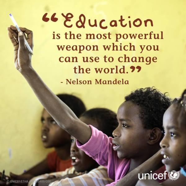 "Unicef Twitter "" #education Powerful"