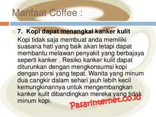 manfaat coffee