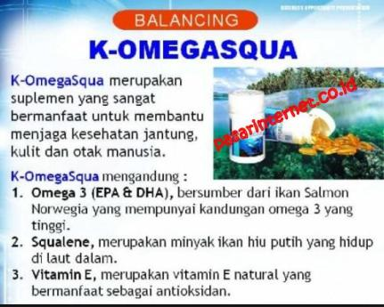 manfaat,khasiat , kandungan k- omega squa plus