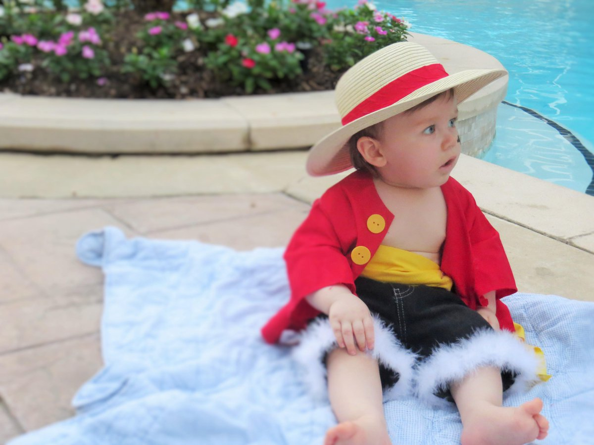 Kids', toddler, & baby clothes with luffy designs sold by independent artists. Jessica V Twitter Here Are Some Of My Favorite Shots Mugiwara King Of The Pirates Monkey D Luffy As A Baby Cosplay 3 Http T Co Wrqe30cwkq