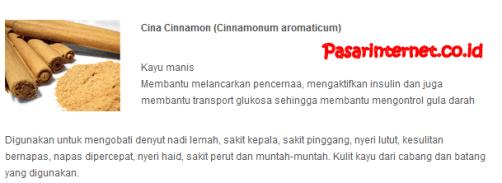 kandungan cina cinnamon dalam phytochi