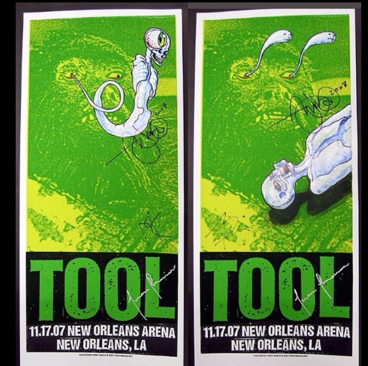 tool concert poster neworleans 2007