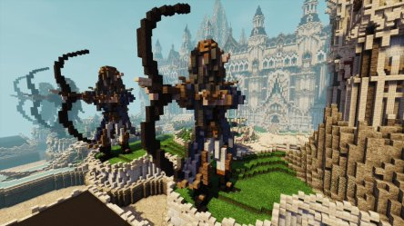 Minecraft Elven Castle 2