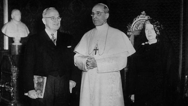 Image result for truman and pope