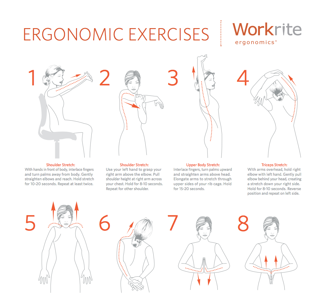 Workrite Ergonomics on Twitter Workplace Exercises http