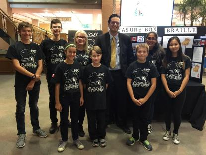 Some of the Classy Cyborgs with His Worship Jeff Lehman, Mayor of Barrie, Ontario