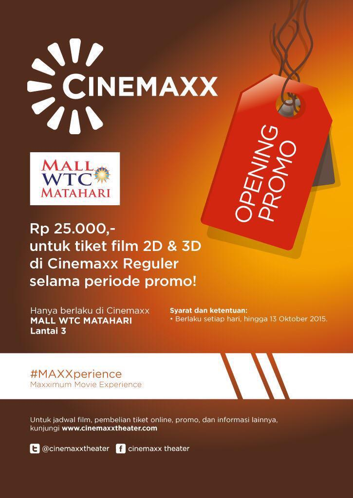 Jadwal Cinemaxx Wtc : jadwal, cinemaxx, χρήστης, Cinépolis, Indonesia, στο, Twitter:,