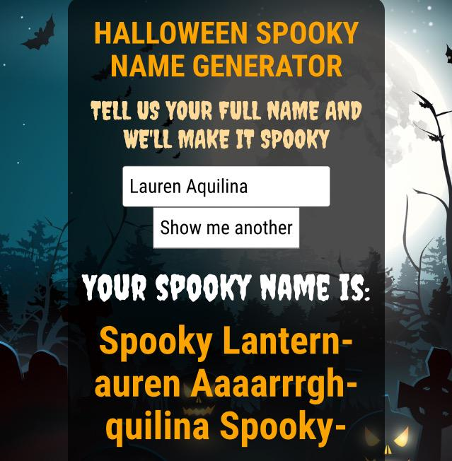 halloween twitter name generator hallowen org