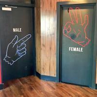 Restroom Doors & Vintage Bathroom Doors Modest On Inside ...
