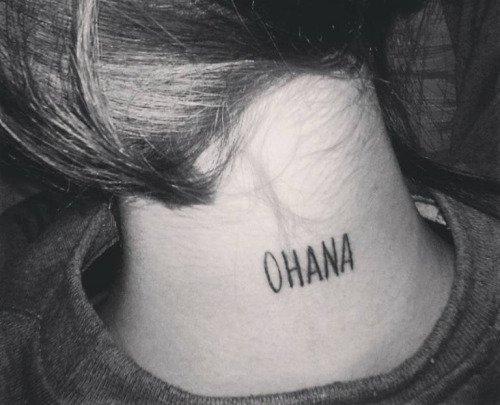 Ink Passion On Twitter Significa Familia Ohana Lilo