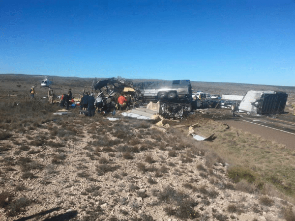 The Ghost Inside bus accident wreckage