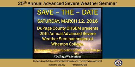 2016 DuPage County Advanced Severe Weather Seminar infographic
