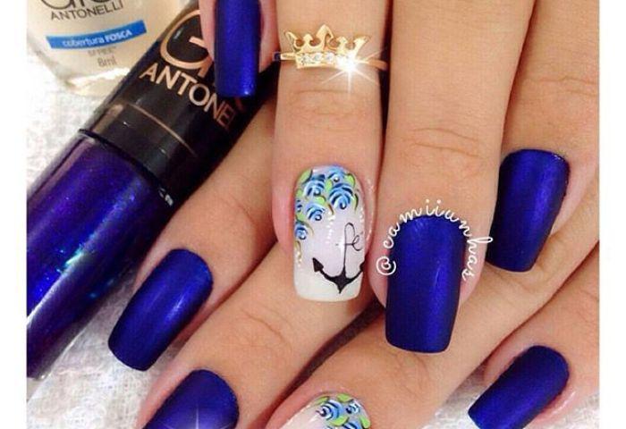 Uñas Decoradasnails On Twitter Elegantes Uñas De Color Azul