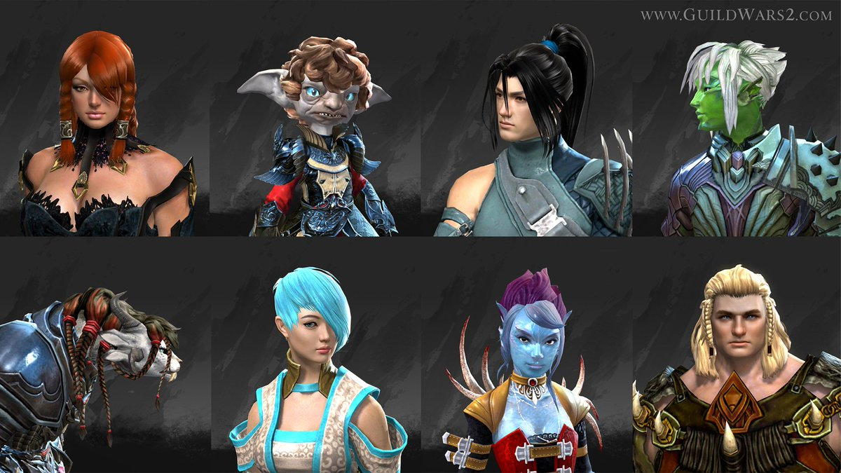 New Hairstyles In Today's Patch!! Guildwars2