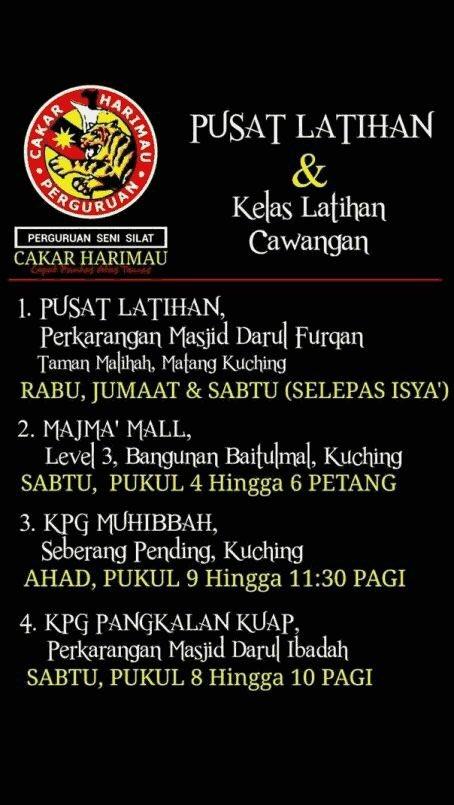 Tempat Latihan Silat Harimau : tempat, latihan, silat, harimau, Youth, Sarawak, Twitter:,