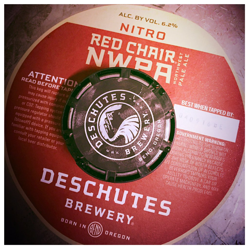 red chair nwpa abv covers gorey co wexford deschutes pdx pub on twitter new tap nitro 6 2 60bus this well rounded is super smooth