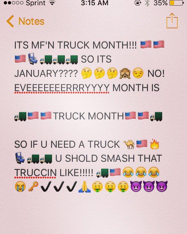 Its Truck Month : truck, month, TRUCK, MONTH, (@ITSTRUCKMONTH), Twitter