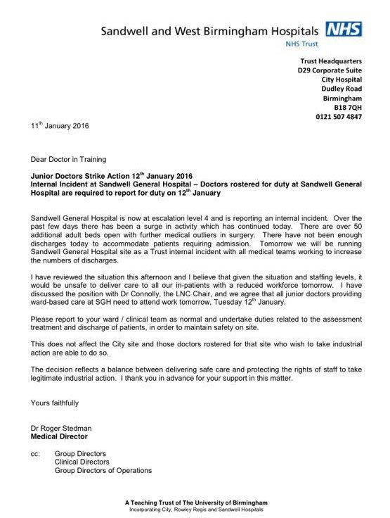 BMA tells striking junior doctors to defy Sandwell hospital orders to return  Society  The
