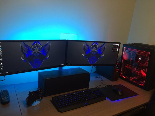 Newegg on Twitter Sweet dual ultrawide monitor PC setup