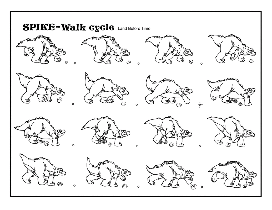 Don Bluth On Twitter Spike Walk Cycle From The Land