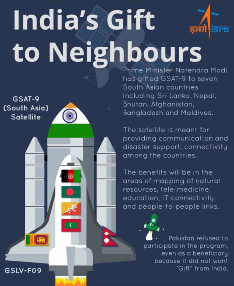 Image result for Space for all: South Asia satellite launch a positive signal to the neighbourhood