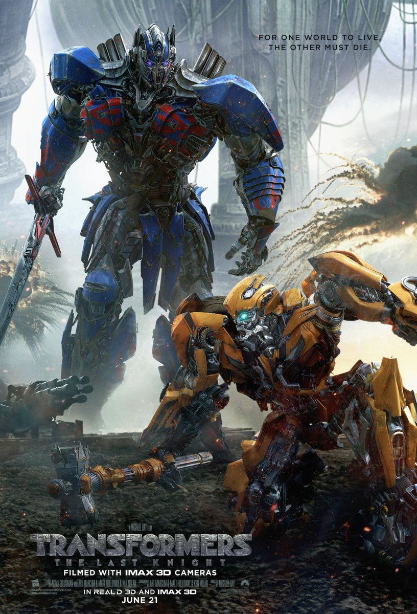 New Transformers: The Last Knight Poster Featuring Optimus Prime & Bumblebee