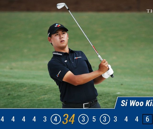 Pga Tour On Twitter Si Woo Kim Is The Leader In The Clubhouse Full Leaderboard Https T Co Btdkpov