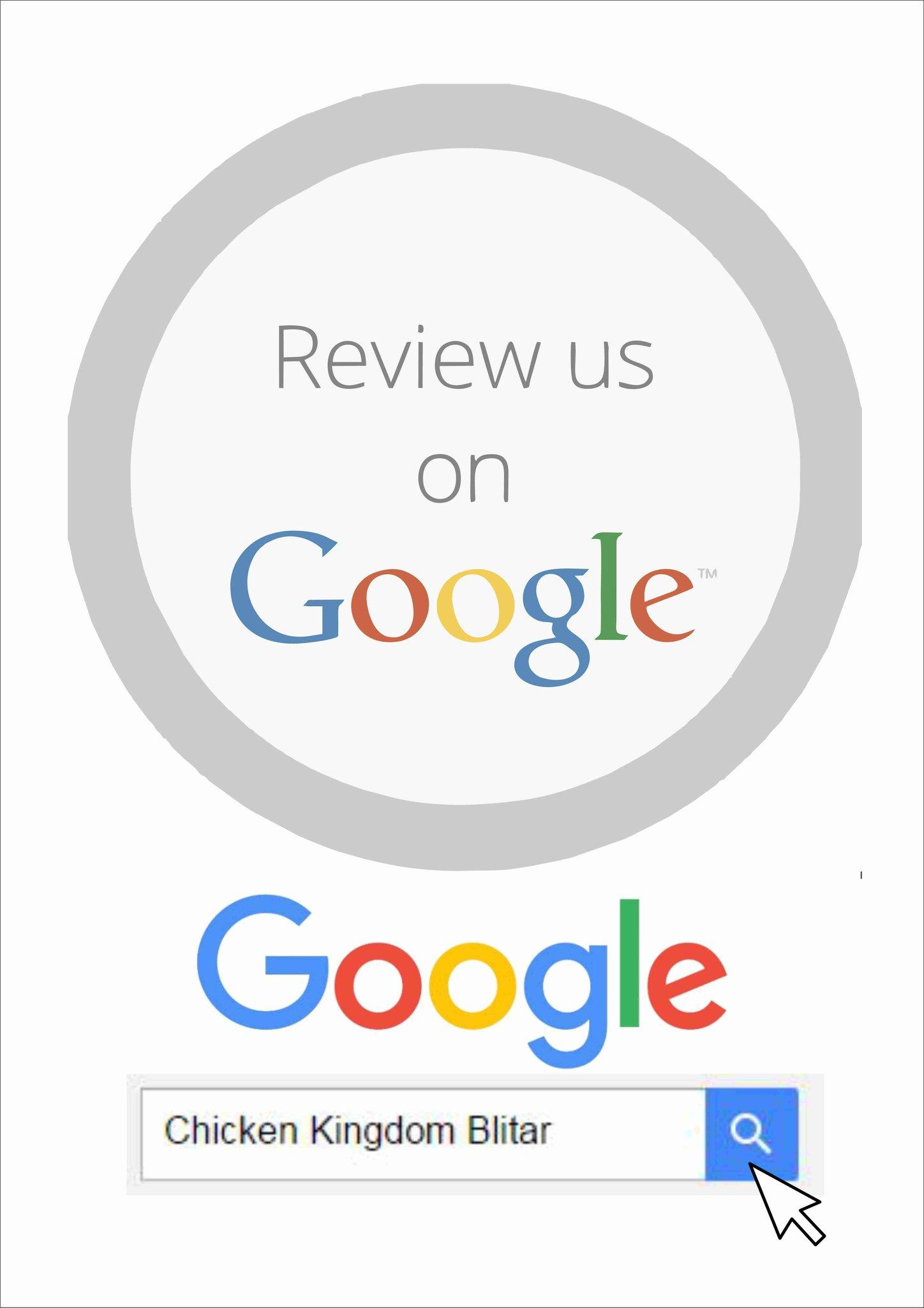 Ulas Kami Di Google : google, CHICKEN, KINGDOM, توییتر, @sahabatkingdom, Bantu, Google, Ketik,
