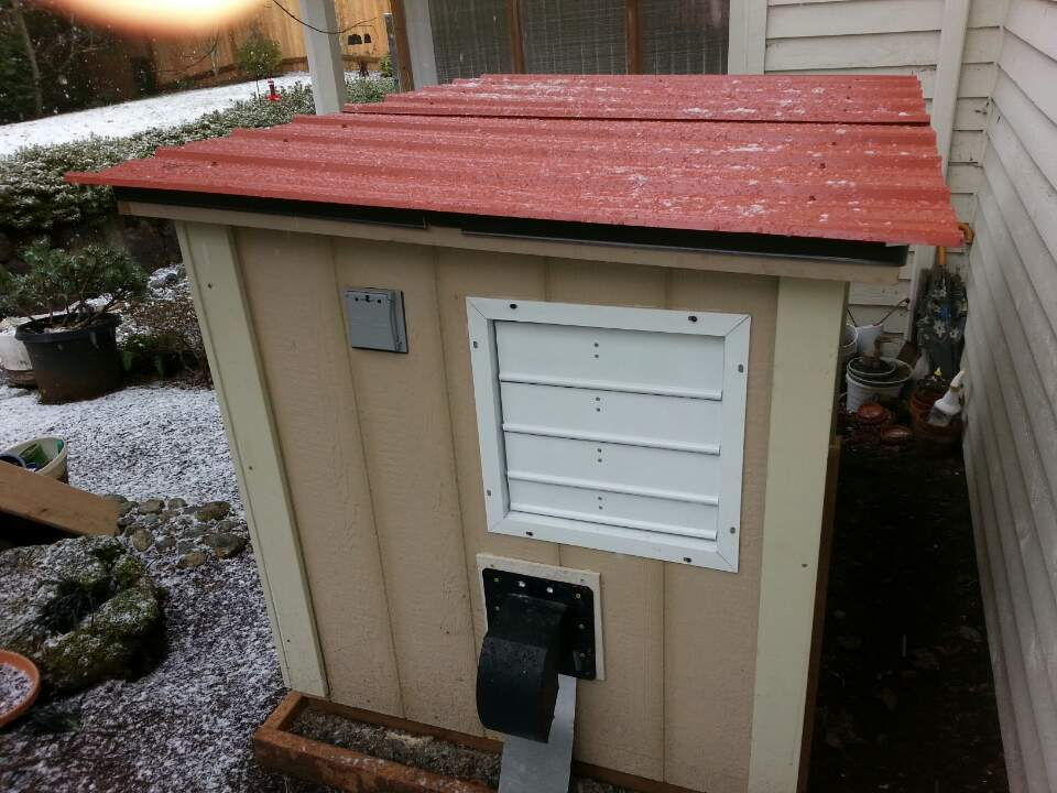 generator shed with exhaust fan