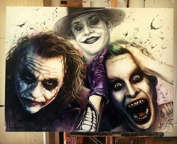 Sick Joker Painting