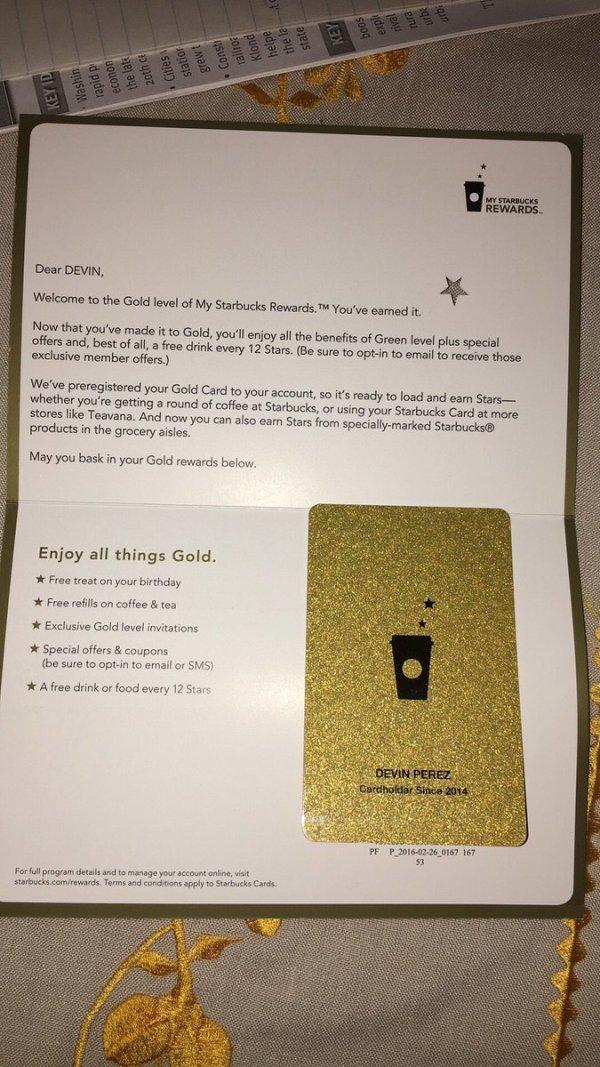 Starbucks Gold Card Member Refill Policy Inviletter