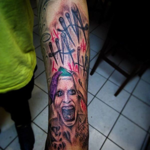 20 Ha Ha Joker Suicide Squad Hand Tattoos Pictures And Ideas On