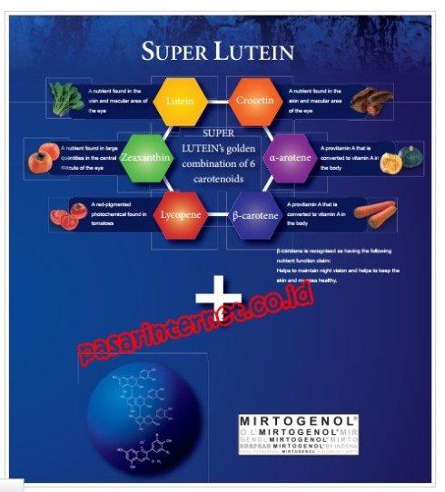 Kandungan dan manfaat Super lutein Mirtoplus
