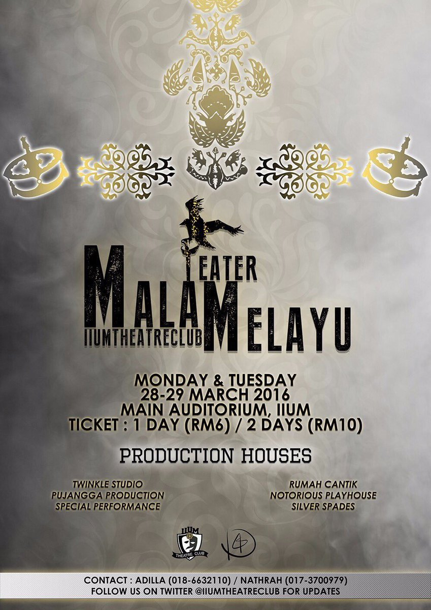 Teater Melayu : teater, melayu, Malam, Teater, Melayu, Twitter:, Official, Poster, Out!You, Whatsapp, 0186632110/0173700979, Purchase, Tickets, Https://t.co/REHH06CiXo