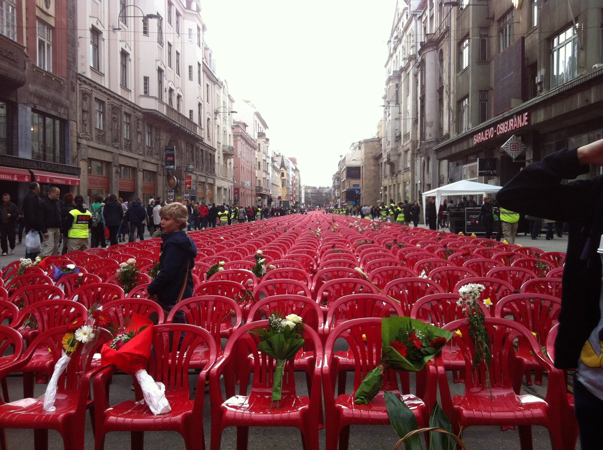 red chairs sarajevo classic event chair covers ltd twitter image waiting for verdict in karadzic trial