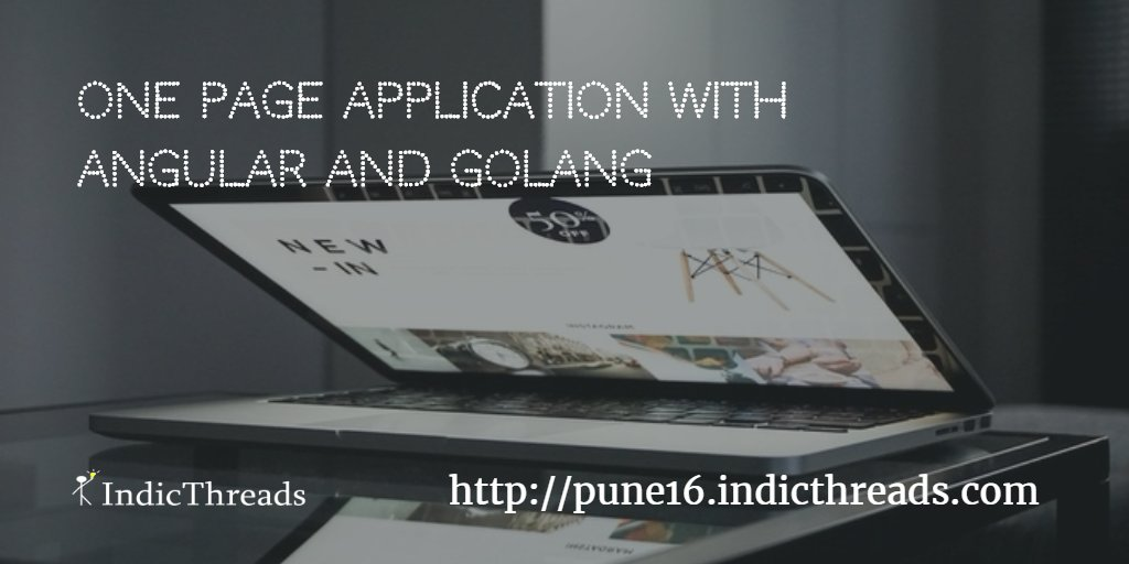 One Page Application With @AngularJs @golang